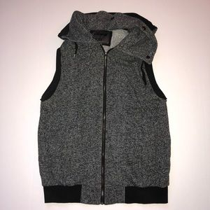 Men's forever 21 zip up hooded vest